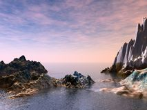 piękny seascape Zdjęcia Royalty Free