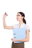 Piękny sekretarki writing Zdjęcie Stock
