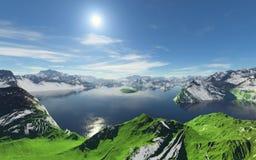 Piękny sen krajobraz 1 Fotografia Stock