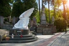 Piękny stary cmentarz Zdjęcia Stock