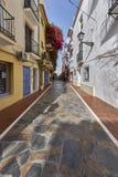 Piękny stary miasto Marbella w Hiszpania Zdjęcia Stock