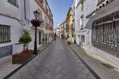 Piękny stary miasto Marbella w Hiszpania Obrazy Royalty Free