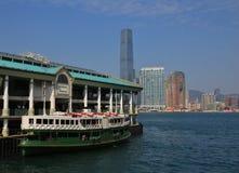Piękny stary prom w Hong Kong Fotografia Stock