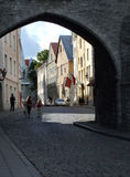 piękny stary Tallin miasta Obrazy Royalty Free