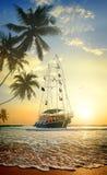 Piękny statek w oceanie Zdjęcie Stock