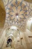 Piękny sufit Agha Bozorg meczet w Kashan, Iran Obrazy Royalty Free