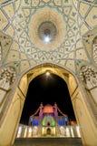 Piękny sufit Agha Bozorg meczet w Kashan, Iran Obraz Stock