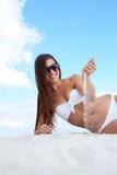 Piękny sunbather Zdjęcie Royalty Free