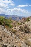 Piękny szorstki i skalisty krajobraz w Antych atlant górach Maroko, afryka pólnocna Obraz Stock