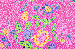 Piękny sztuka malezyjczyka i indonezyjczyka batika wzór Zdjęcia Royalty Free
