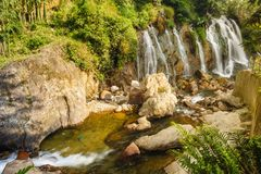 Piękny Tien Sa wody spadek w SAPA, Wietnam Zdjęcia Royalty Free