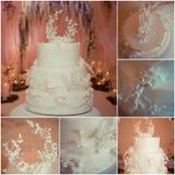 piękny tort weselny white Fotografia Stock
