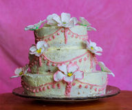 piękny tort weselny white Zdjęcie Royalty Free
