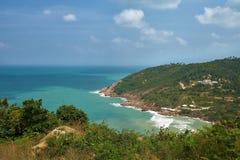 Piękny tropikalny krajobraz w Koh Phangan Zdjęcia Stock