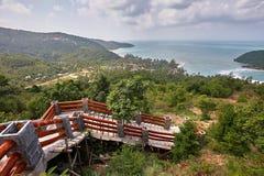 Piękny tropikalny krajobraz w Koh Phangan Obrazy Royalty Free
