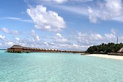 Piękny tropikalny wyspa kurort Fotografia Royalty Free