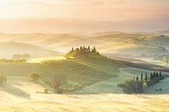 Piękny Tuscan krajobrazu widok Zdjęcie Stock