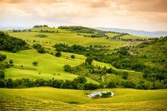 Piękny Tuscan krajobrazu widok Zdjęcia Royalty Free