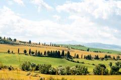 Piękny Tuscan krajobrazu widok Obraz Stock