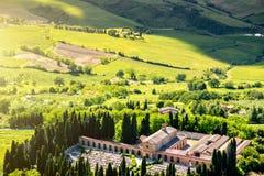 Piękny Tuscan krajobrazu widok Obrazy Stock