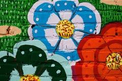 Piękny uliczny sztuki graffit Zdjęcia Royalty Free