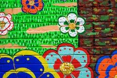 Piękny uliczny sztuki graffit Fotografia Royalty Free