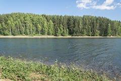 Piękny Vlasina Jeziorny Serbia w lecie Obrazy Stock