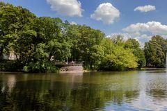 Piękny Volksgarten park w Kolonia Fotografia Stock