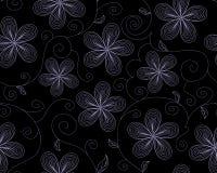 Piękny wektorowy bezszwowy wzór z kwiatami royalty ilustracja