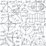Piękny wektorowy bezszwowy wzór z mathematica ilustracji