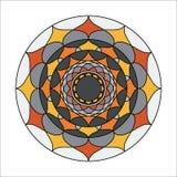 Piękny wektorowy mandala kwiat Fotografia Stock