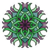 Piękny wektorowy mandala kwiat Ornamentacyjny round kwiecisty przedmiot Obraz Royalty Free