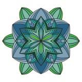 Piękny wektorowy mandala kwiat Ornamentacyjny round kwiecisty przedmiot Zdjęcie Stock