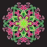Piękny wektorowy mandala kwiat Ornamentacyjny round kwiecisty przedmiot Zdjęcie Royalty Free