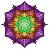 Piękny wektorowy mandala kwiat Ornamentacyjny round kwiecisty przedmiot Obrazy Royalty Free