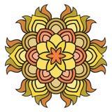 Piękny wektorowy mandala kwiat Ornamentacyjny round kwiecisty przedmiot Zdjęcia Royalty Free