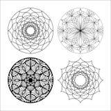 Piękny wektorowy mandala kwiatu set Zdjęcia Royalty Free