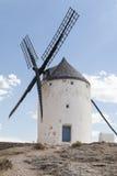 Piękny wiatraczek w Consuegra, Toledo, Hiszpania Zdjęcia Royalty Free