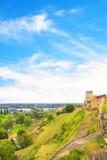 Piękny widok Belgrade forteca w Belgrade, Serbia Fotografia Royalty Free