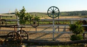 Piękny widok gospodarstwo rolne, rancho, pióro dla koni Fotografia Royalty Free