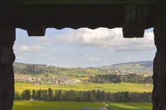 Piękny widok Gruyeres Szwajcaria, Europe Zdjęcia Royalty Free