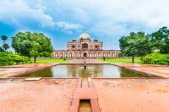 Piękny widok Humayun ` s grobowiec, Delhi, India obrazy stock