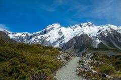 Piękny widok i lodowiec w górze Gotujemy parka narodowego Obrazy Royalty Free