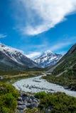 Piękny widok i lodowiec w górze Gotujemy parka narodowego Obraz Royalty Free