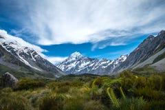 Piękny widok i lodowiec w górze Gotujemy parka narodowego Zdjęcia Stock