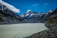 Piękny widok i lodowiec w górze Gotujemy parka narodowego Zdjęcia Royalty Free