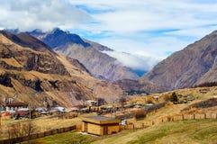 Piękny widok Kaukaz góry, Gruzja Zdjęcie Royalty Free