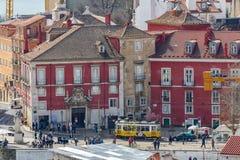 Piękny widok Lisbon stary miasto, Portugalia Zdjęcie Stock