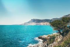 Piękny widok Monaco na pogodnym letnim dniu obrazy stock