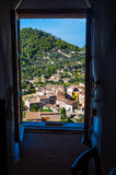 Piękny widok na Estellencs podczas zmierzchu, Mallorca, Hiszpania Zdjęcia Royalty Free